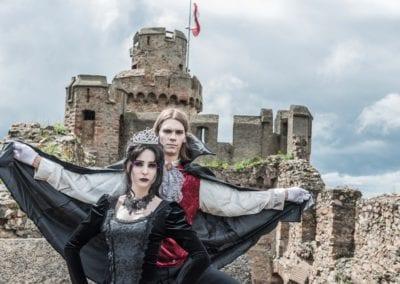 Gothic Fotoshooting auf Burg I Heidi Debbah Maskenbildnerin und Visagistin