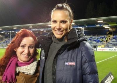 Sky Sportmoderatorin Esther Sedlaczek | Heidi Debbah Visagistin und Maskenbildnerin