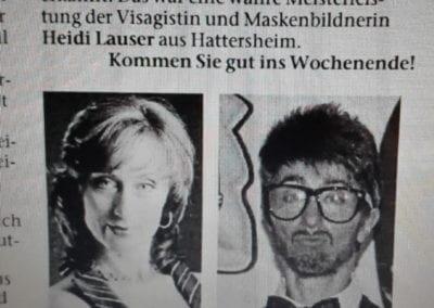 Zeitungsbericht. Umstyling von Frau zu Mann / Heidi Debbah Maskenbildnerin und Visagistin