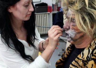 Faschings-Schminken, Tiger Makeup / Heidi Debbah Maskenbildnerin und Visagistin