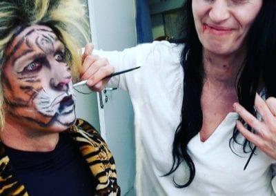 Tiermaske schminken, Tiger Makeup / Heidi Debbah Maskenbildnerin und Visagistin