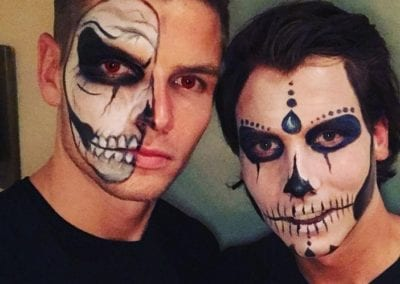 Skull Makeup / Heidi Debbah Maskenbildnerin und Visagistin1